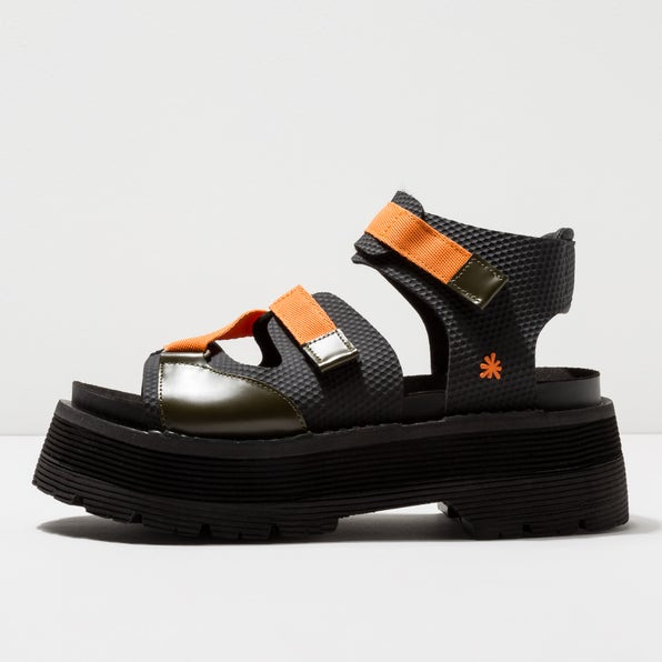 0911 MULTI LEATHER KAKI-ORANGE/ART ALPINE