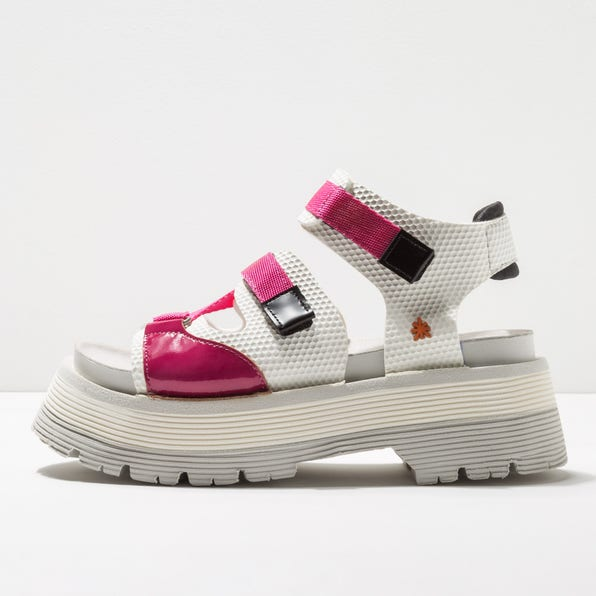 0911 MULTI LEATHER WHITE-FUCSIA/ART ALPINE