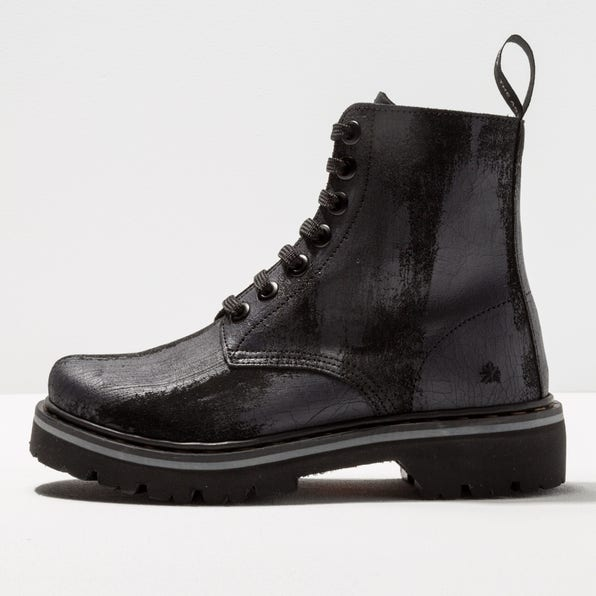 1166F SUEDE PAINTED BLACK/ MARINA