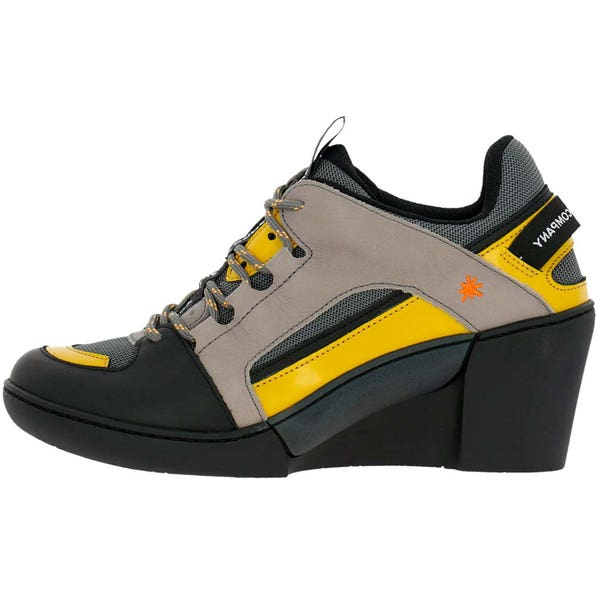 1562 MULTI LEATHER GREY-YELLOW/ ROTTERDAM