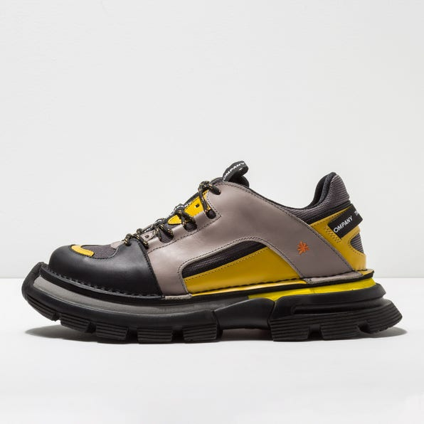 1650 MULTI LEATHER GREY-YELLOW / ART CORE 1