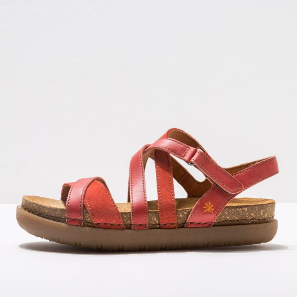 1714 MULTI LEATHER CORAL /RHODES