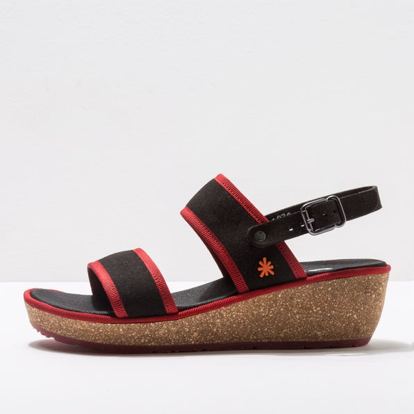 1870 MICRO SUEDE BLACK-RED/CAPRI