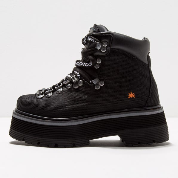 0910S MULTI LEATHER BLACK/ ART ALPINE