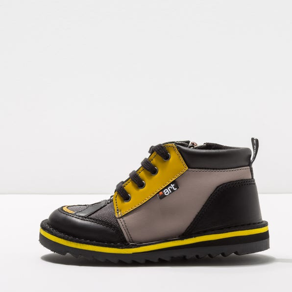 A941 MIX LEATHER GREY-YELLOW /TORINO